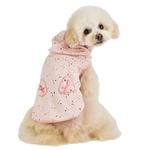 View Image 4 of Fiorella Dog Hoodie by Pinkaholic - Indian Pink