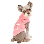 View Image 4 of Azalea Dog Hoodie by Pinkaholic - Indian Pink
