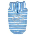 View Image 1 of Mamours Dog Hoodie by Pinkaholic - Blue