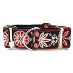 View Image 1 of Mandala Star Wide Martingale Dog Collar by Diva Dog - Carnelian Red