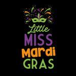 View Image 2 of Little Miss Mardi Gras Dog Shirt - Black