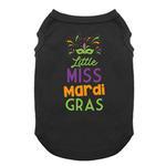 View Image 1 of Little Miss Mardi Gras Dog Shirt - Black