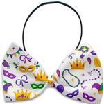 View Image 1 of Mardi Gras Masks Dog Bow Tie