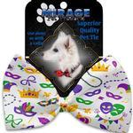 View Image 2 of Mardi Gras Masks Dog Bow Tie