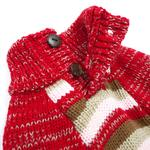 View Image 3 of Marl Stripes Dog Sweater by Dogo - Red