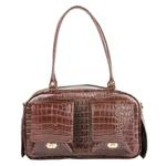 View Image 1 of Marlee Dog Carrier by Petote - Brown Croco