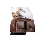 View Image 3 of Marlee Dog Carrier by Petote - Brown Croco
