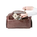 View Image 2 of Marlee Dog Carrier by Petote - Brown Croco