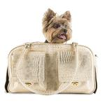 View Image 2 of Marlee Dog Carrier by Petote - Gold Croco
