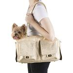 View Image 3 of Marlee Dog Carrier by Petote - Gold Croco