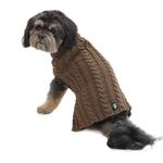 View Image 1 of Marley's Cable Dog Sweater - Mocha