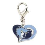 View Image 1 of Memphis Grizzlies Swirl Heart Dog Collar Charm