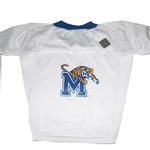 View Image 1 of Memphis Tigers Dog Jersey - White