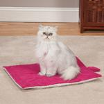 View Image 1 of Meow Town ThermaPet Cat Mat - Fuchsia