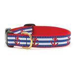 View Image 1 of Anchors Aweigh Dog Collar by Up Country