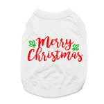View Image 1 of Merry Christmas Dog Shirt - White