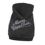 View Image 1 of Merry Christmas Rhinestone Dog Hoodie