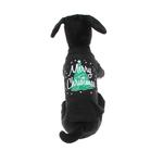 View Image 3 of Scribbled Merry Christmas Screenprint Dog Tank Top - Black