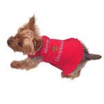 View Image 2 of Merry Christmas Tree Rhinestone Holiday Dog Dress - Red