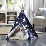 View Image 2 of Merry Pet Teepee - Blue with White Stars