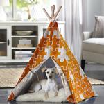 View Image 2 of Merry Pet Teepee - Orange Puzzle