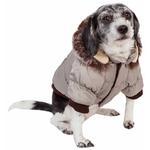 View Image 2 of Pet Life Metallic Ski Parka Dog Coat - Gray