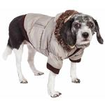 View Image 1 of Pet Life Metallic Ski Parka Dog Coat - Gray