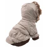 View Image 5 of Pet Life Metallic Ski Parka Dog Coat - Gray