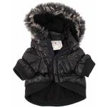 View Image 5 of Pet Life Metallic Ski Parka Dog Coat - Black