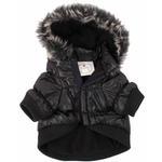View Image 5 of Pet Life Metallic Ski Parka Dog Coat - Black
