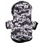 View Image 5 of Pet Life Fashion Pet Parka Dog Coat - Snow Camouflage