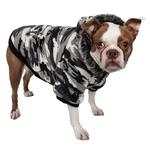 View Image 1 of Pet Life Fashion Pet Parka Dog Coat - Snow Camouflage