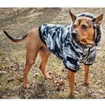 View Image 6 of Pet Life Fashion Pet Parka Dog Coat - Snow Camouflage