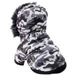 View Image 3 of Pet Life Fashion Pet Parka Dog Coat - Snow Camouflage