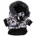 View Image 4 of Pet Life Fashion Pet Parka Dog Coat - Snow Camouflage