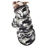 View Image 2 of Pet Life Fashion Pet Parka Dog Coat - Snow Camouflage