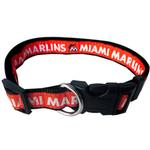 View Image 1 of Miami Marlins Officially Licensed Ribbon Dog Collar