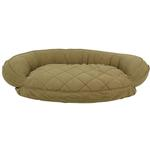 View Image 1 of Microfiber Quilted Bolster Dog Bed with Moisture Barrier Protection - Sage