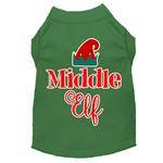 View Image 1 of Middle Elf Christmas Dog T-Shirt - Green