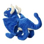 View Image 2 of Mighty Dragon Dog Toy - Blue