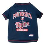 View Image 1 of Minnesota Twins Dog T-Shirt - Navy Blue
