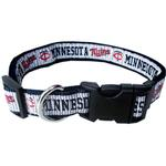 View Image 1 of Minnesota Twins Officially Licensed Ribbon Dog Collar