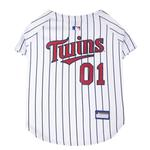 View Image 1 of Minnesota Twins Officially Licensed Dog Jersey - Pinstripe