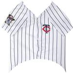 View Image 2 of Minnesota Twins Officially Licensed Dog Jersey - Pinstripe