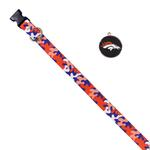 View Image 1 of Denver Broncos Team Camo Dog Collar and Tag by Yellow Dog
