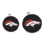 View Image 2 of Denver Broncos Team Camo Dog Collar and Tag by Yellow Dog