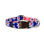 View Image 1 of Mix and Match Daisy Dog Collar by Yellow Dog - Royal and Red
