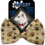 View Image 2 of Mocha Paws and Bones Dog Bow Tie