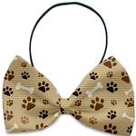 View Image 1 of Mocha Paws and Bones Dog Bow Tie