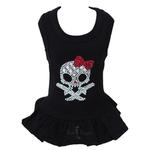 View Image 1 of Molly Skull Dog Dress with Red Bow